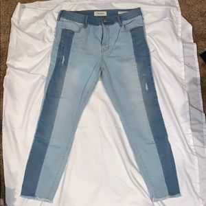 Super cute two toned jeans